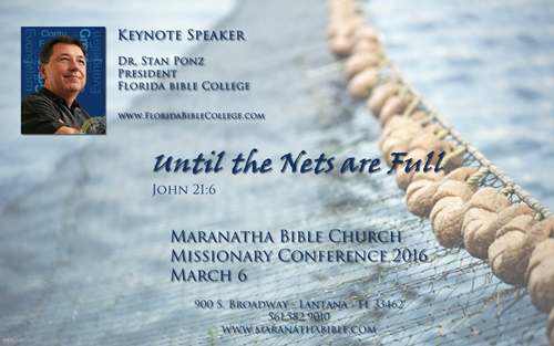 Dr. Stan Ponz Speaker at Maranatha Bible Church